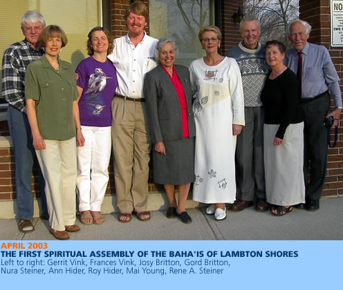 First Spiritual Assembly of Lambton Shores